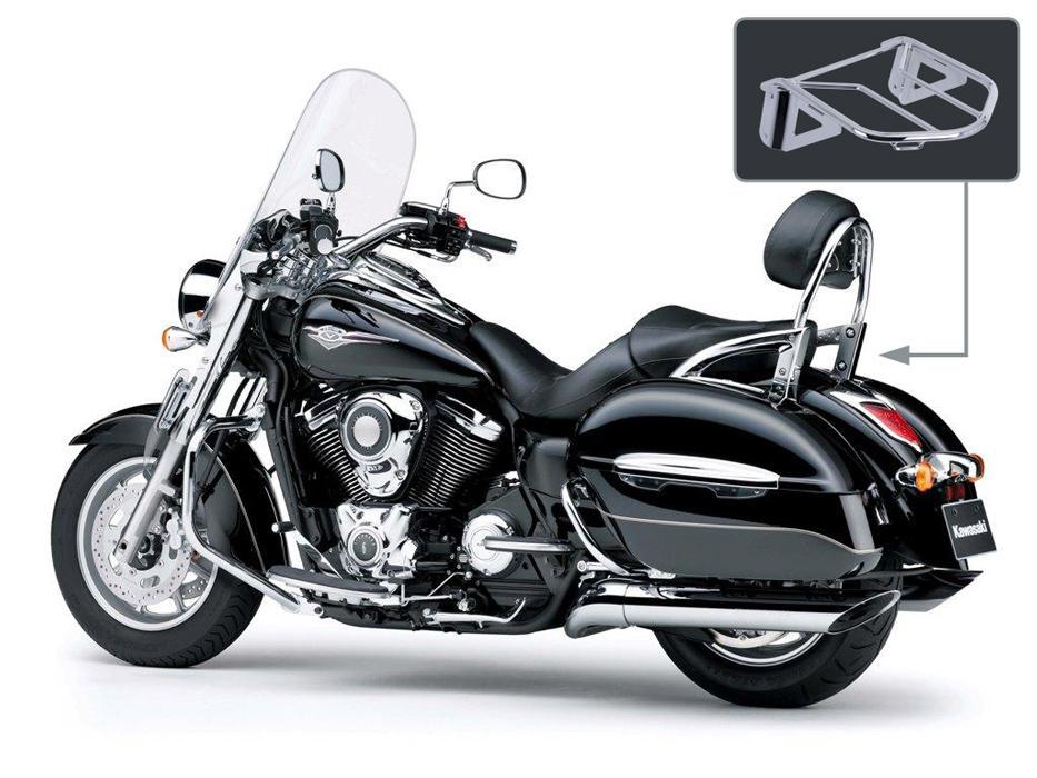 Bagagedrager Bagagedrager geschikt voor de originele Kawasaki Sissybar zoals op de foto. (3)