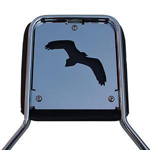 Sissy bar coverplate VKT - Hawk (chrome)