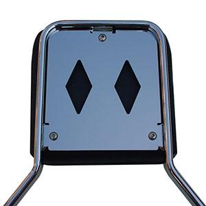 Sissy bar coverplate VKT - Double Window (chrome)