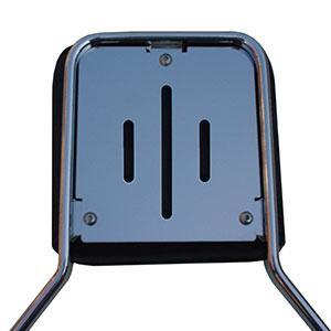 Sissy bar coverplate VKT - Vertikal line (chrome)