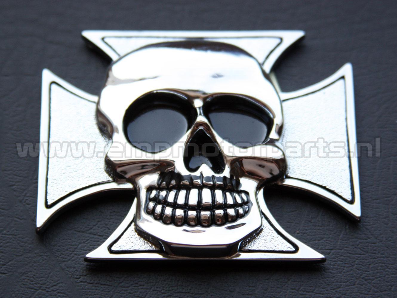 Emblem Cross & Skull