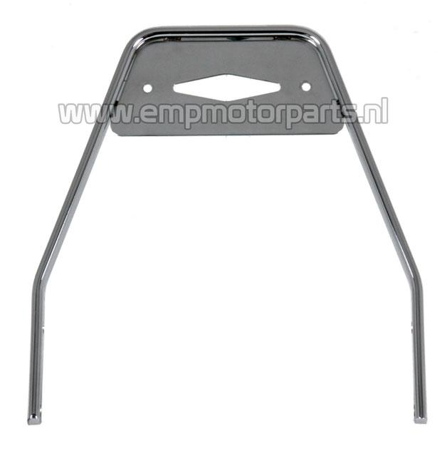 Sissy bar Luxe Low backrest chrome bar