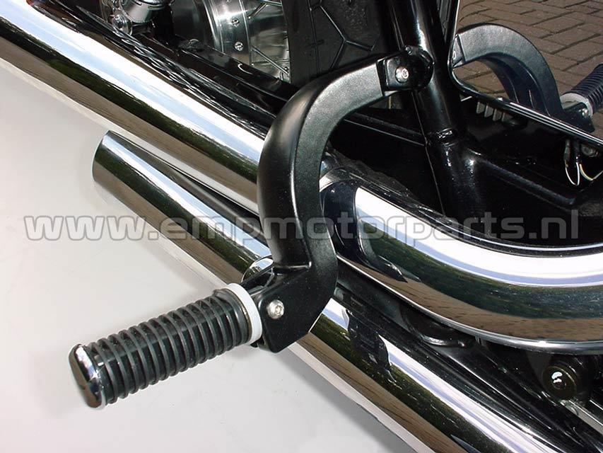Footpeg lowering set (black coated) Honda (2)