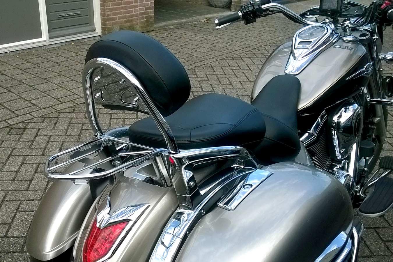 Bagagedrager Bagagedrager geschikt voor de originele Kawasaki Sissybar zoals op de foto. (1)