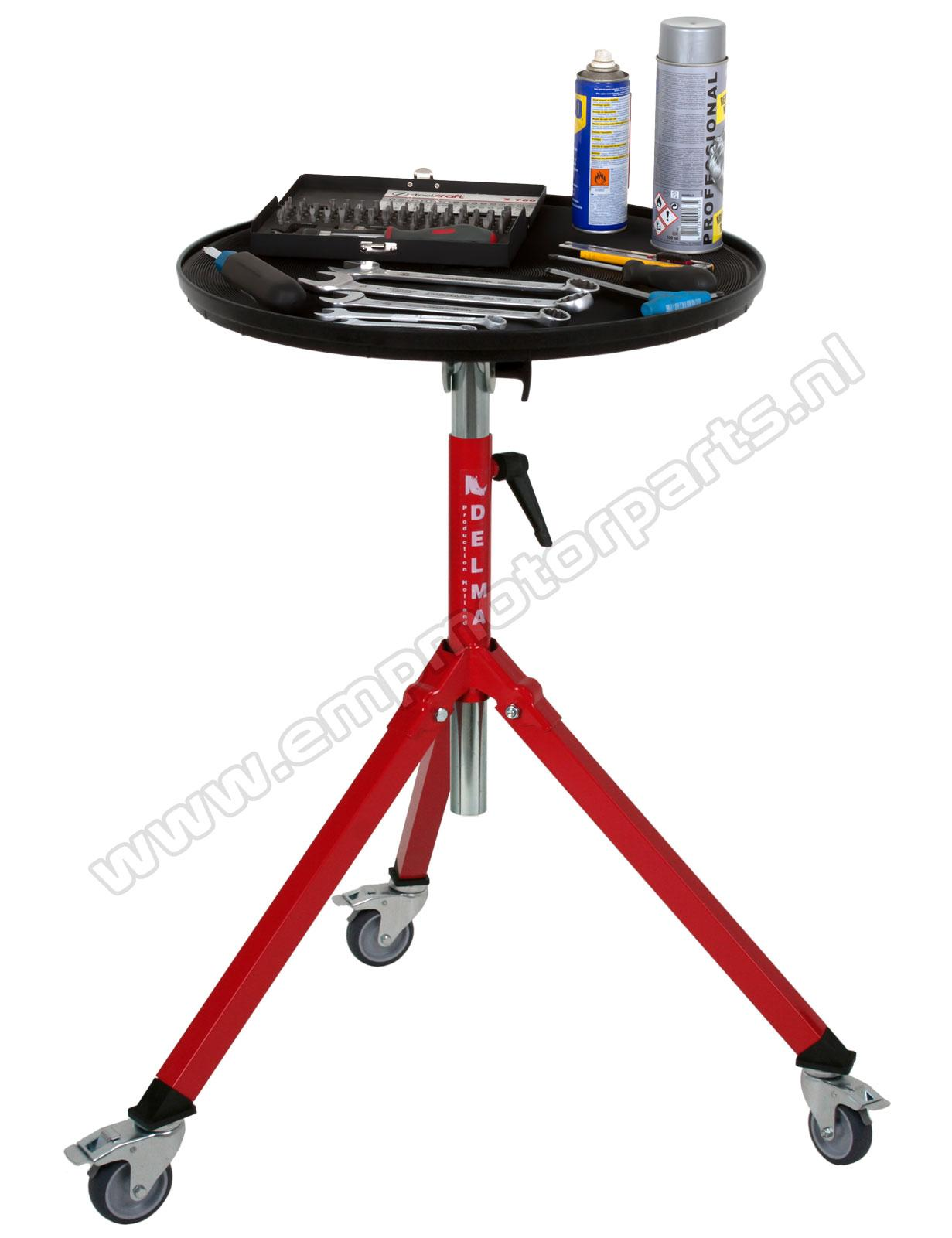 Roll-boy tool table Foldable presentation table-, supporting- and tool table.  (2)